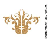 premium gold vintage baroque... | Shutterstock .eps vector #389706025