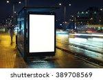 blank bus stop advertising... | Shutterstock . vector #389708569