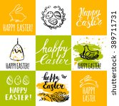 template design cards with nest ... | Shutterstock .eps vector #389711731