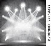 scene illumination  transparent ... | Shutterstock .eps vector #389716591