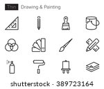 drawing and painting vector... | Shutterstock .eps vector #389723164