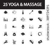 yoga and massage icon set | Shutterstock .eps vector #389724391