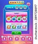 game ui. level screen. creative ...
