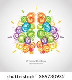 creative human brain in the... | Shutterstock .eps vector #389730985