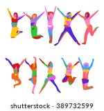 jumps | Shutterstock .eps vector #389732599