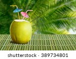 summer tropical cocktail in... | Shutterstock . vector #389734801