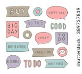 set of planning stickers. can... | Shutterstock .eps vector #389737819