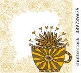 tea cup vector illustration | Shutterstock .eps vector #389739679
