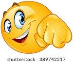 emoticon giving a fist bump   Shutterstock .eps vector #389742217