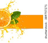 fresh orange background with... | Shutterstock . vector #389757271