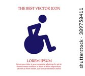 wheelchair vector icon eps 10.... | Shutterstock .eps vector #389758411