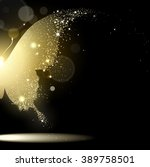 golden butterfly on black... | Shutterstock . vector #389758501