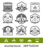 retro vector vintage camp label ... | Shutterstock .eps vector #389763034