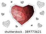 dark pink  red heart isolated... | Shutterstock .eps vector #389773621