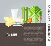 calcium food vector background. ... | Shutterstock .eps vector #389775409