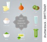 good foodstuff for healthy... | Shutterstock .eps vector #389776069