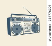 tape recorder  cassette... | Shutterstock .eps vector #389776309
