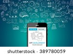 app development concept... | Shutterstock .eps vector #389780059