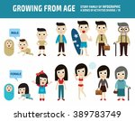 people asian generation from... | Shutterstock .eps vector #389783749