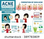 acne and protect. health care... | Shutterstock .eps vector #389783809