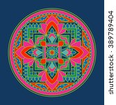 tibet ethnic colored mandalas... | Shutterstock .eps vector #389789404