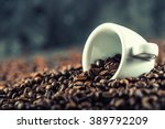 coffee. coffee beans. coffee... | Shutterstock . vector #389792209