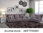 interior with sofa. 3d... | Shutterstock . vector #389794084