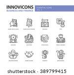set of modern vector office ... | Shutterstock .eps vector #389799415