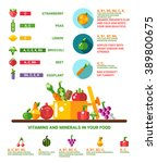 illustration of healthy eating... | Shutterstock . vector #389800675