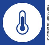 thermometer. vector icon blue...