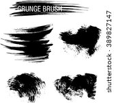 vector set of grunge brush... | Shutterstock .eps vector #389827147