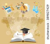 education infographics open... | Shutterstock .eps vector #389827429