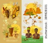 african banner africa culture... | Shutterstock .eps vector #389828101