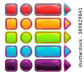 colorful bright buttons set on...
