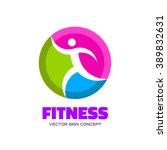 fitness   vector logo concept...