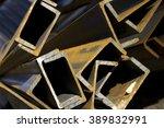 channel steel  u sections ... | Shutterstock . vector #389832991