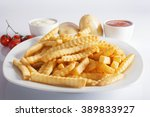 portion of french fries ... | Shutterstock . vector #389833927