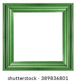 Green Picture Frame On White...