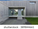 entrance of a modern house in... | Shutterstock . vector #389844661