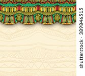 ornate curtain and ethnic...
