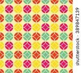 colorful vintage pattern ... | Shutterstock .eps vector #389847139