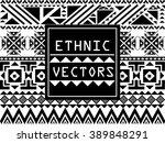 geometric ethnic pattern design ... | Shutterstock .eps vector #389848291