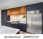 elegant kitchen interior detail ... | Shutterstock . vector #389851219