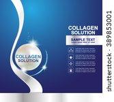 collagen serum and vitamin... | Shutterstock .eps vector #389853001