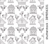 seamless pattern with cute hand ...   Shutterstock .eps vector #389856331