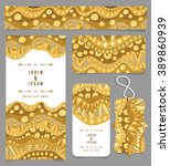 different banners. golden... | Shutterstock .eps vector #389860939