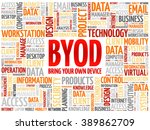 byod   bring your own device...   Shutterstock .eps vector #389862709