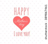 vector greeting card for... | Shutterstock .eps vector #389867461