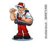 pest control exterminator | Shutterstock .eps vector #389871985