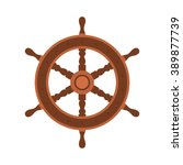 Постер, плакат: Yacht wheel vector illustration